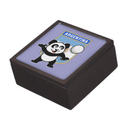 Medium (3' X 3') Gift Box with Argentina Volleyball Panda design
