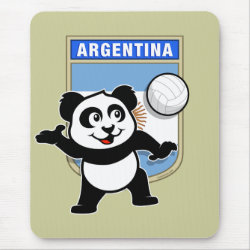Mousepad with Argentina Volleyball Panda design
