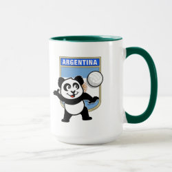 Combo Mug with Argentina Volleyball Panda design