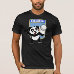 Men's Basic American Apparel T-Shirt with Argentina Volleyball Panda design