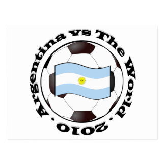 Argentina vs The World Postcard