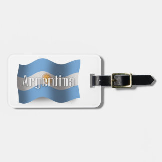 Argentina Waving Flag Bag Tags