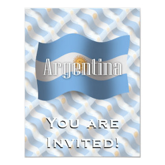 Argentina Waving Flag Personalized Invites
