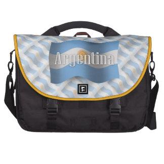 Argentina Waving Flag Laptop Commuter Bag