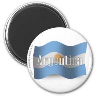 Argentina Waving Flag Magnet