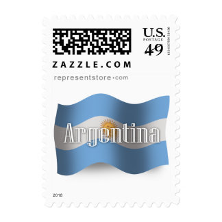Argentina Waving Flag Postage