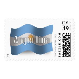 Argentina Waving Flag Postage Stamp