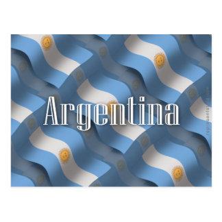 Argentina Waving Flag Postcard