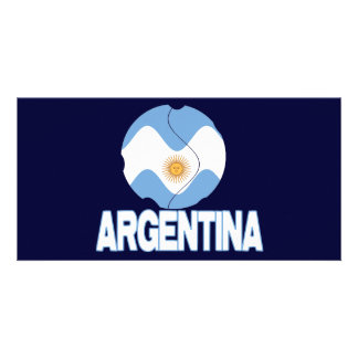 argentina wc 3000 customized photo card