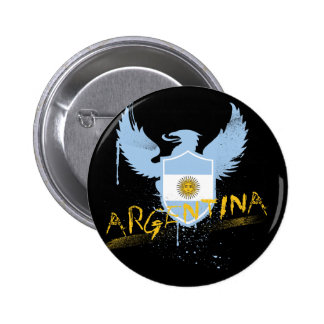 Argentina Winged Pinback Buttons