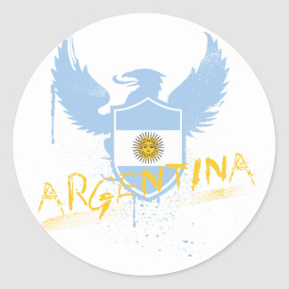 Argentina Winged Classic Round Sticker