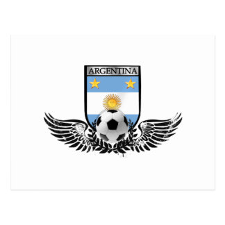 Argentina world champions Winged futbol shield Postcard