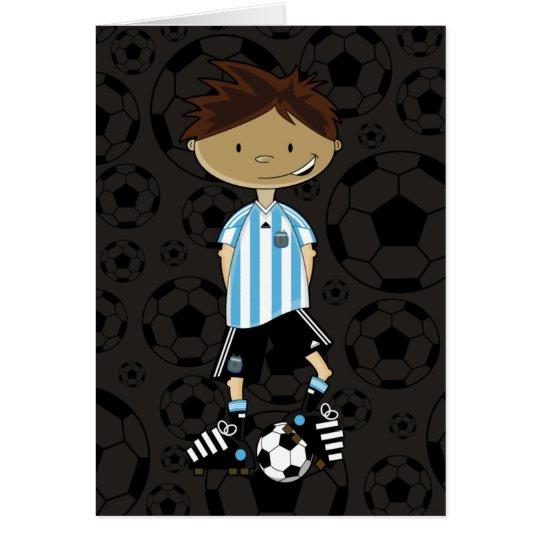 Argentina World Cup Soccer Boy Card