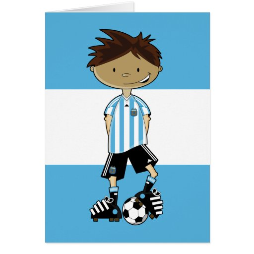 Argentina World Cup Soccer Boy Greeting Card