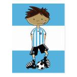 Argentina World Cup Soccer Boy Post Card