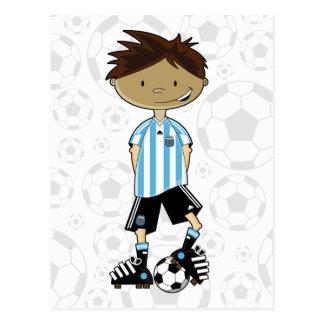 Argentina World Cup Soccer Boy Postcard