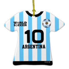 Argentina World Cup Soccer Jersey Ornament ornament