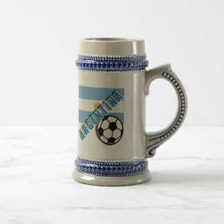 ARGENTINA World Soccer Fan Tshirts Beer Stein