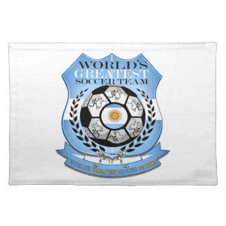 Argentina Worlds Greatest Soccer Nation... Cloth Placemat
