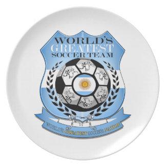 Argentina Worlds Greatest Soccer Nation..Plates Melamine Plate