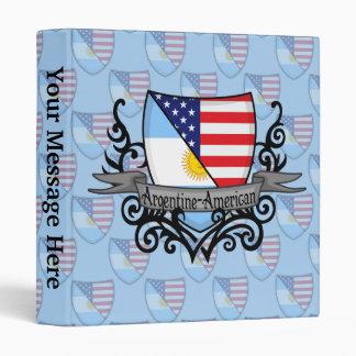 Argentine-American Shield Flag 3 Ring Binder