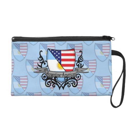 Argentine-American Shield Flag Wristlet Clutch