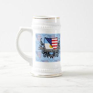 Argentine-American Shield Flag Beer Stein