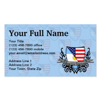 Argentine-American Shield Flag Business Card