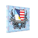 Argentine-American Shield Flag Canvas Print