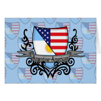 Argentine-American Shield Flag Card