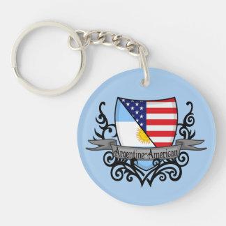 Argentine-American Shield Flag Acrylic Key Chains
