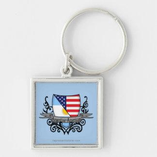 Argentine-American Shield Flag Key Chains