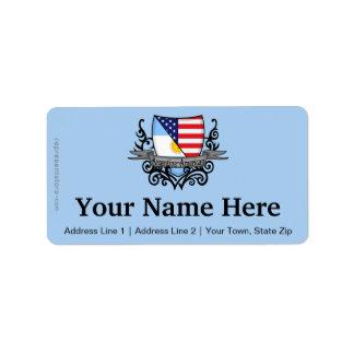 Argentine-American Shield Flag Label