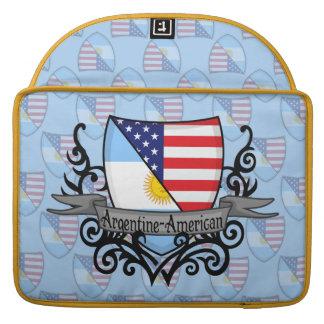 Argentine-American Shield Flag Sleeve For MacBooks