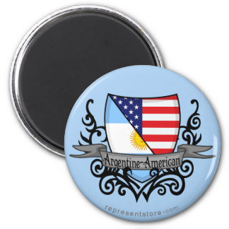 Argentine-American Shield Flag Magnet