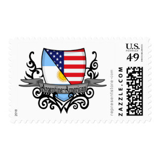 Argentine-American Shield Flag Postage Stamp