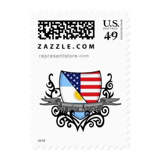 Argentine-American Shield Flag Postage Stamp