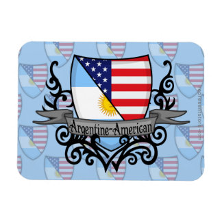 Argentine-American Shield Flag Flexible Magnets