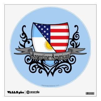 Argentine-American Shield Flag Wall Decal