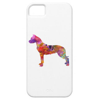Argentine bulldog 01 in watercolor-2 iPhone SE/5/5s case