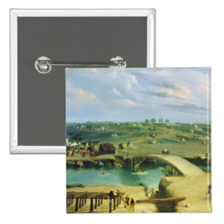 Argentine Camp on the other side of the San Lorenz Pinback Button
