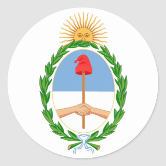 Argentine Coat of Arms Classic Round Sticker