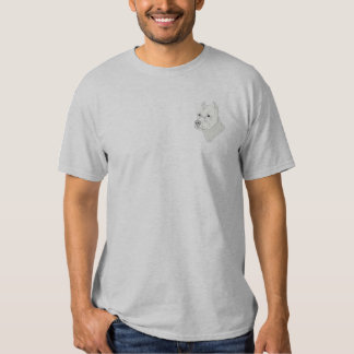 Argentine Dog Embroidered T-Shirt