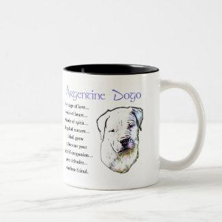 Argentine Dogo Gifts Two-Tone Coffee Mug