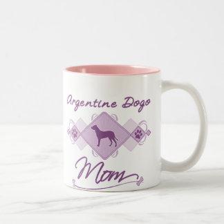 Argentine Dogo Mom Two-Tone Coffee Mug