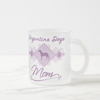 Argentine Dogo Mom 10 Oz Frosted Glass Coffee Mug