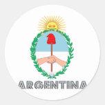 Argentine Emblem Round Stickers