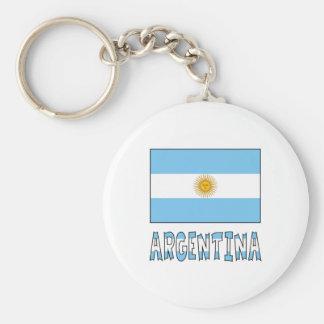 Argentine Flag and Argentina Keychain