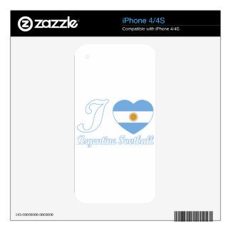 argentine football designs decals for the iPhone 4S