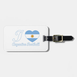 argentine football designs luggage tag